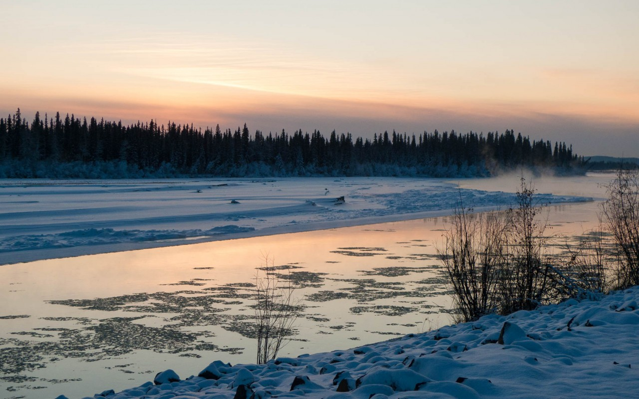 Tanana River near Fairbanks in the early winter